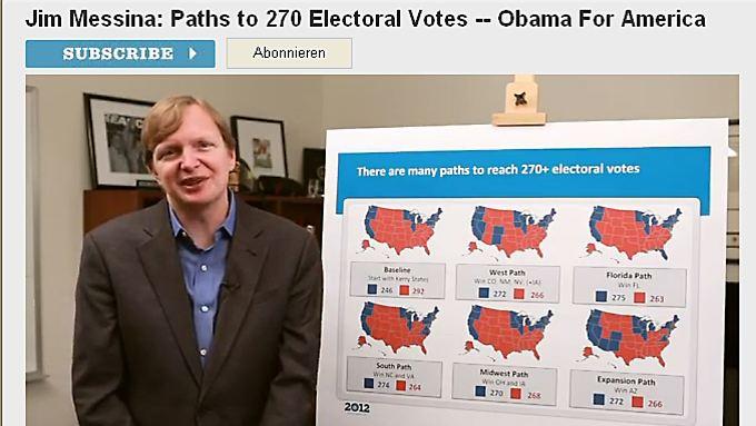 Jim Messina, Obamas Wahlkampfmanager, erklärt die Wiederwahl-Strategie des Präsidenten.
