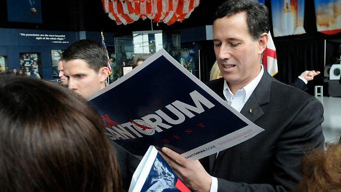 Santorum beim Wahlkampf in Alabama.