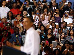 Seine Stammwähler hat er sicher, die seiner Gegner aber kann Obama kaum überzeugen.