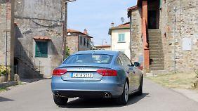 Dank neuem ESP und individueller Fahrwerkseinstellung bietet der A5 Sportback viel Fahrspaß.