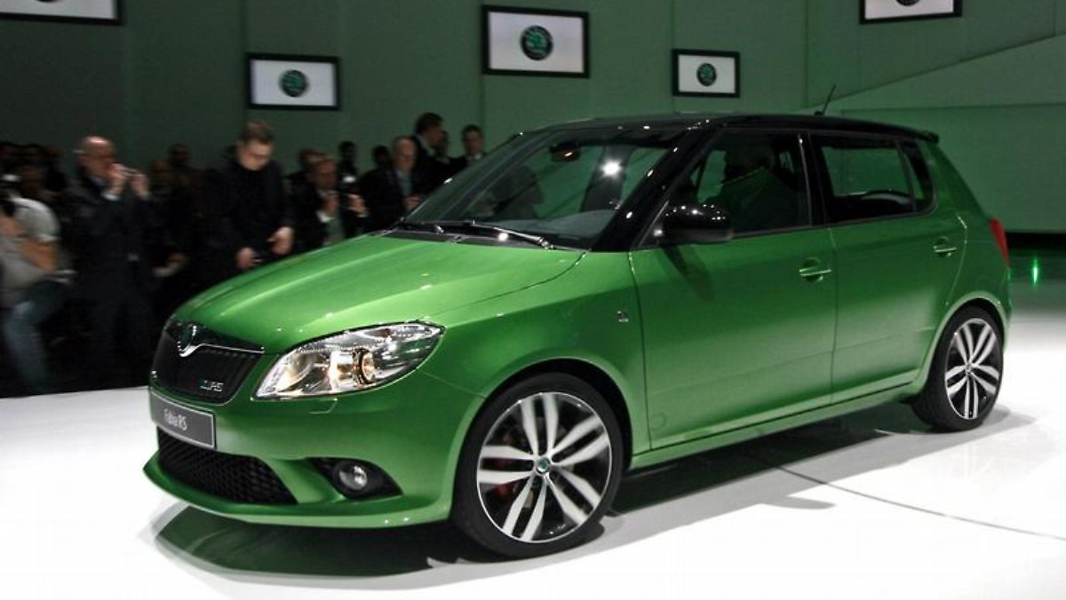 skoda bringt rs modell fabia als kraftprotz n. Black Bedroom Furniture Sets. Home Design Ideas