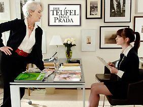 Meryl Streep glänzt als zickige Chefin.