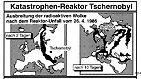 Große Mengen radioaktiver Materie wurden durch die extreme Hitze in den Himmel geschleudert. Der Wind verteilte sie über ganz Europa.