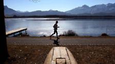... wenn wir uns gut fühlen nach einem Lauf von 10 Kilometern ...