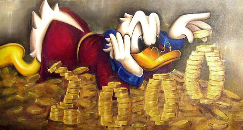 an viel geld kommen
