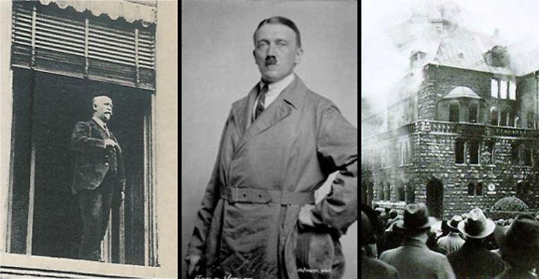 """Am 9. November 1918 rief Philipp Scheidemann die Deutsche Republik aus, am 9. November 1923 fand Hitlers """"Marsch auf die Feldherrenhalle"""" statt, am 9. November 1938 zettelten die Nationalsozialisten die """"Reichskristallnacht"""" an."""