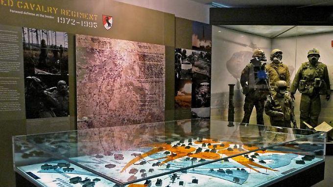 Die Ausstellung im Museum der Point Alpha Stiftung erklärt die einstigen Aufgaben der US-Soldaten an der Grenze.