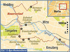 Vor 20 Jahren trennte eine mehr als 40 km lange Mauer die beiden Stadthälften.