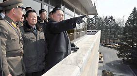 Kim Jong Un setzt sich gern als Kriegsherr in Szene.