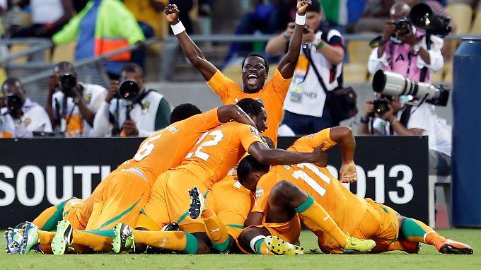 Dreimal durfte die Elfenbeinküste gegen Tunesien jubeln.