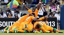 Drogba schon sich beim Afrika-Cup: Ivorer erreichen Viertelfinale