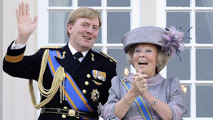 Königin Beatrix und ihr Sohn: Willem-Alexander ist Kronprinz und dürfte das Zepter als Willem IV. übernehmen.