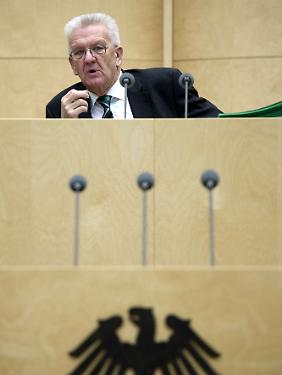 Der amtierende Bundesratspräsident Winfried Kretschmann.