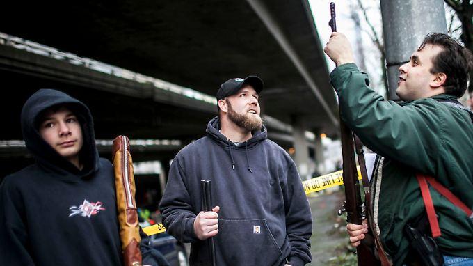 In Seattle konnten Waffenbesitzer ihre Gewehre kürzlich gegen Warengutscheine eintauschen.