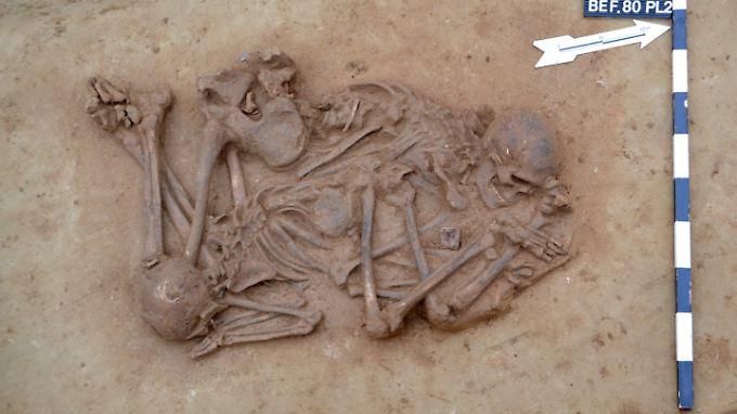 Eins der in Ettenheim freigelegten Gräber.