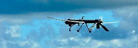 Eine Drohne vom Typ RQ-1 Predator von der Creech-Luftwaffenbasis im Bundesstaat Nevada.