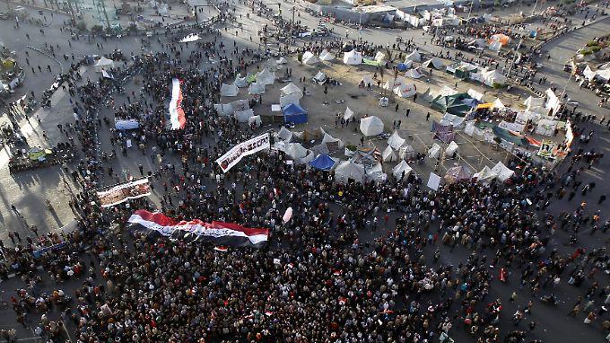 Der Tahrir-Platz in Kairo ist fest in der Hand der Demonstranten.