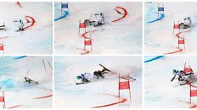 Crash auf der Piste: Der Kroate Filip Zbcic stürzt und reißt Felix Neureuther um.