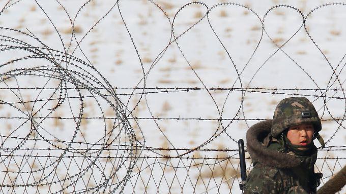 An der Grenze zwischen Nord- und Südkorea herrscht eine angespannte Stimmung.