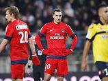 Ein Satz mit x: Zlatan Ibrahimovic, erfolglos in Sochaux.
