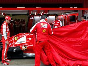 Fernando Alonso legte in seinem Ferrari die drittbeste Zeit hin.