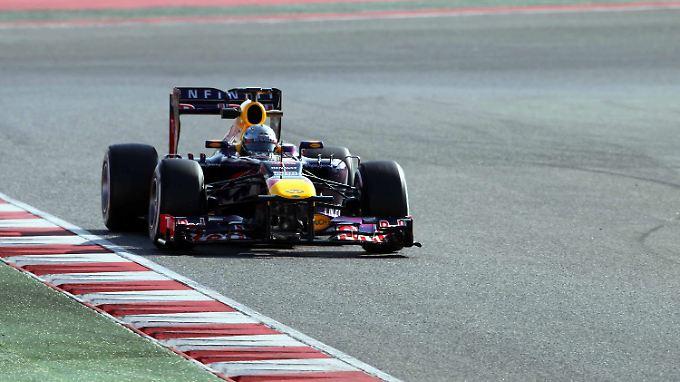 Am zweiten Testtag in Spanien hatte Weltmeister Sebastian Vettel eine Schraube locker.