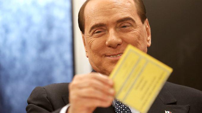 Noch immer scheinen die Italiener nicht genug von Silvio Berlusconi zu haben.