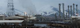 Die Atomanlage in Arak: Dass der Iran hier einen Schwerwasserreaktor unterhält ist bekannt. Dass auch die Anreicherungsanlage läuft laut nicht.