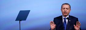 Erdogan bei seiner Rede auf der UN-Veranstaltung.