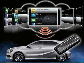 Inzwischen lassen sich in moderenen Fahrzeugen auch Online-Angebote über das Internet abrufen.