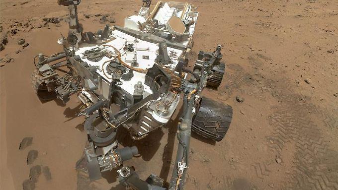 """Der Marsrover """"Curiosity"""" auf dem Roten Planeten."""