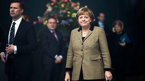Seit Mitte Dezember liegt die CDU mit Kanzlerin Merkel in den Forsa-Umfragen konstant über 40 Prozent.