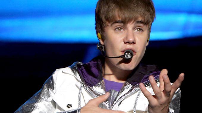 Bieber bei einem Auftritt im Mai 2012 in Manila.