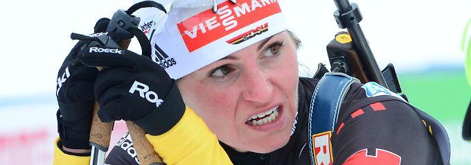 """""""Das Ergebnis ist okay"""": Andrea Henkel."""