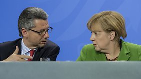 """""""Dann haben wir die Energiewende ja geschafft"""": BDI-Präsident Grillo und Kanzlerin Merkel."""