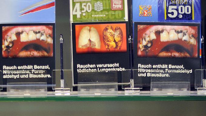 Abschreckende Bilder könnten auch bald auf deutschen Zigarettenpackungen zu sehen sein.
