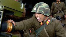 """""""Den Feinden das Kreuz brechen"""": Kim droht mit Angriff auf Insel"""