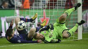 Bayern-Keeper Manuel Neuer hatte nach dem Blitzrückstand nicht mehr allzuviel zu tun, kassierte aber trotzdem noch ein zweites Gegentor.