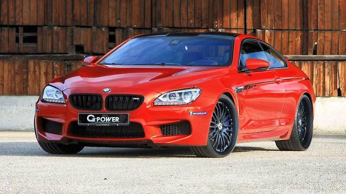 Gewindefahrwerk, Titan-Abgassystem und die G-Power Bi-Tronik III machen aus dem BMW M6 ein Luxuscoupé mit Kampfjet-Charakter.
