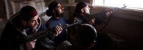 Kämpfer der Freien Syrischen Armee in Aleppo.