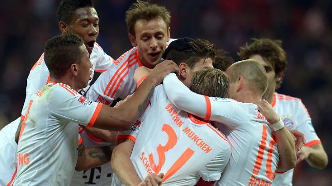 Wenn's mal läuft, dann gewinnen die Bayern auch solche Spiele.