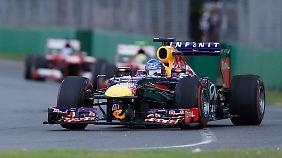"""""""Wir waren heute nur die Drittschnellsten, das muss man  eingestehen"""", sagte Vettel am Ende."""