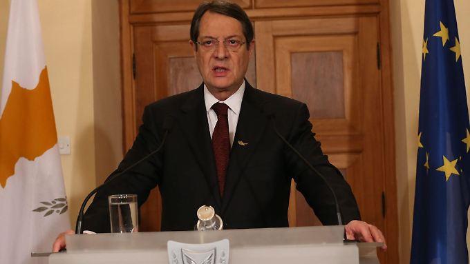 Nikos Anastasiades muss einen politischen Balanceakt vollführen.