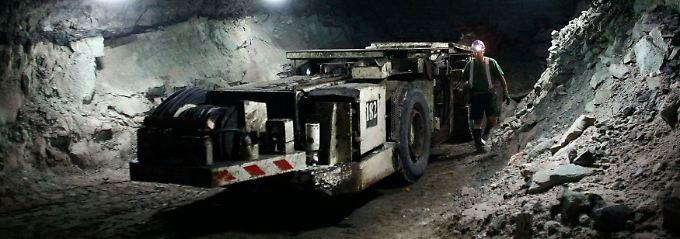 Gefährlicher Arbeitsplatz: Minenarbeiter im niederschlesischen Polkowice.