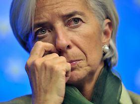 Christine Lagarde hat Ärger.
