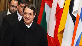 Zyperns Präsident Anastasiades verhandelte in Brüssel mit den EU-Spitzen.