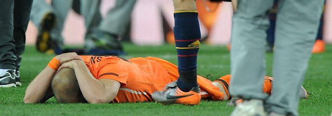 Oranje am Boden: Hier ist es Wesley Sneijder.