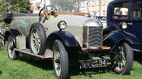 Der Bullnose Morris ist das erste Auto, das in Oxford gebaut wird.