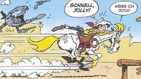 Lucky Luke ist wiedermal schnell unterwegs.