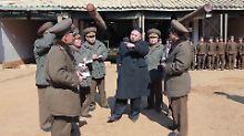 Raketen in Bereitschaft: Nordkorea verschärft Drohungen